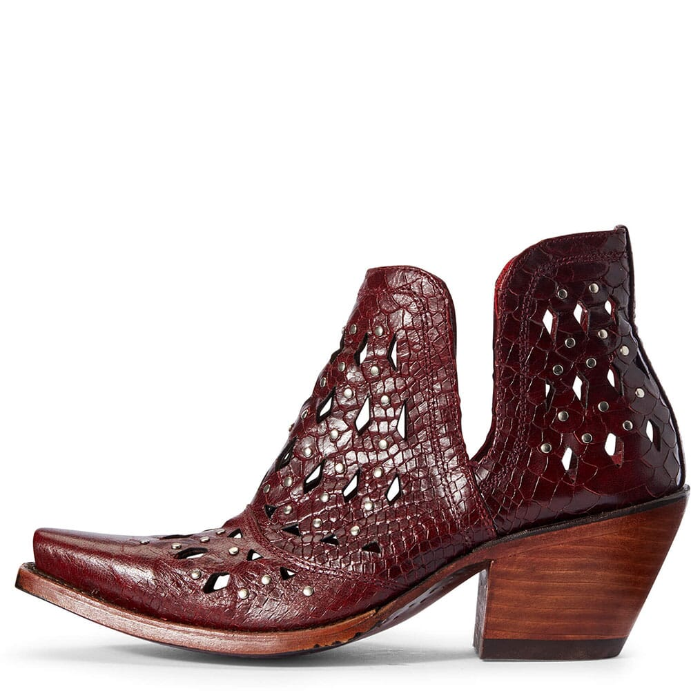 Ariat Women's Dixon Studded Western Boots - Red Snake