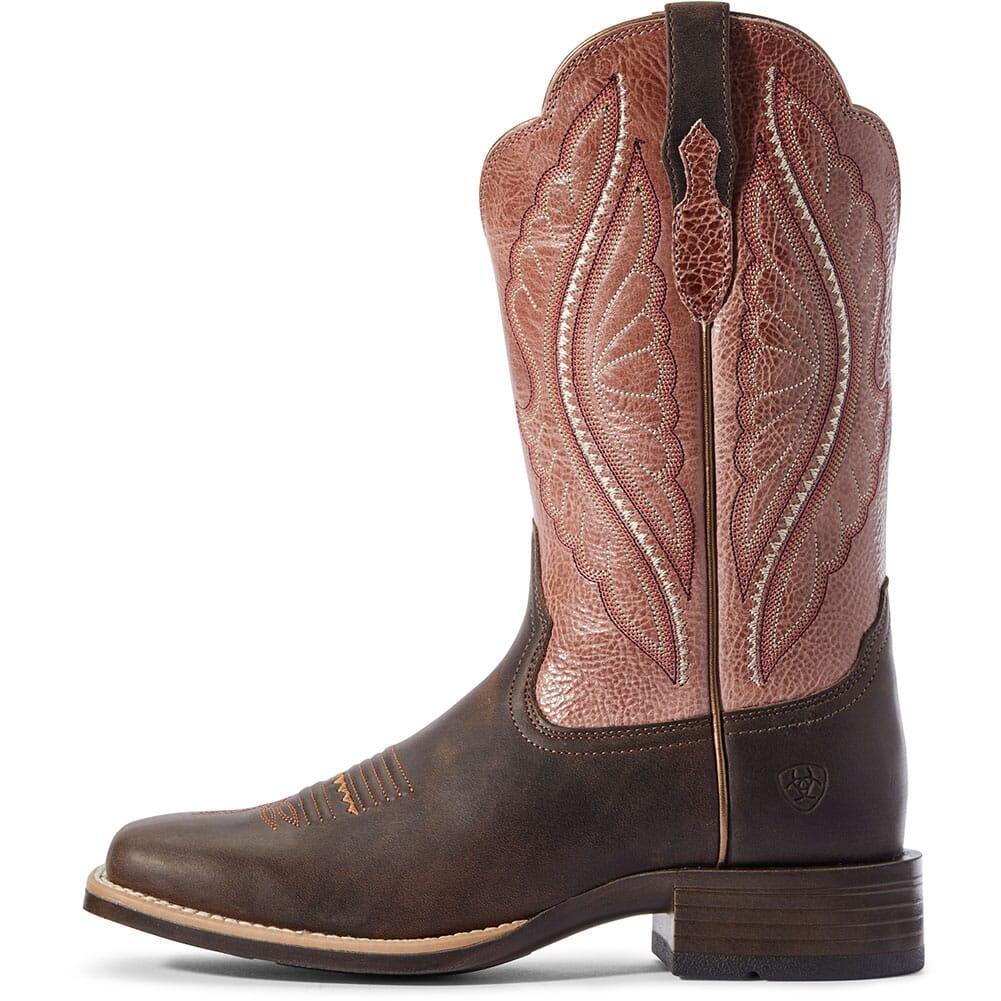 10031647 Ariat Women's Primetime Tack Western Boots - Dark Java/Petal Pink