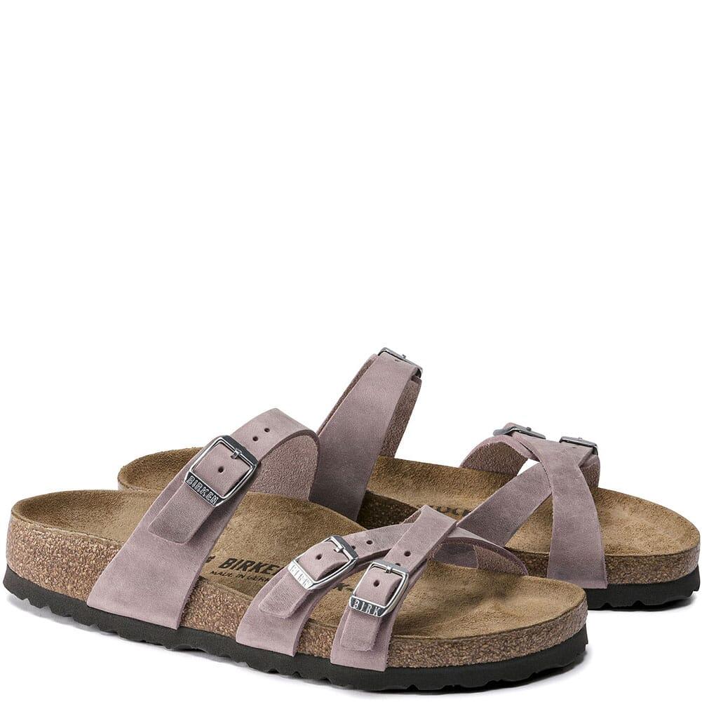 1020014 Birkenstock Women's Franca Oiled Leather Sandals - Lavender Blush