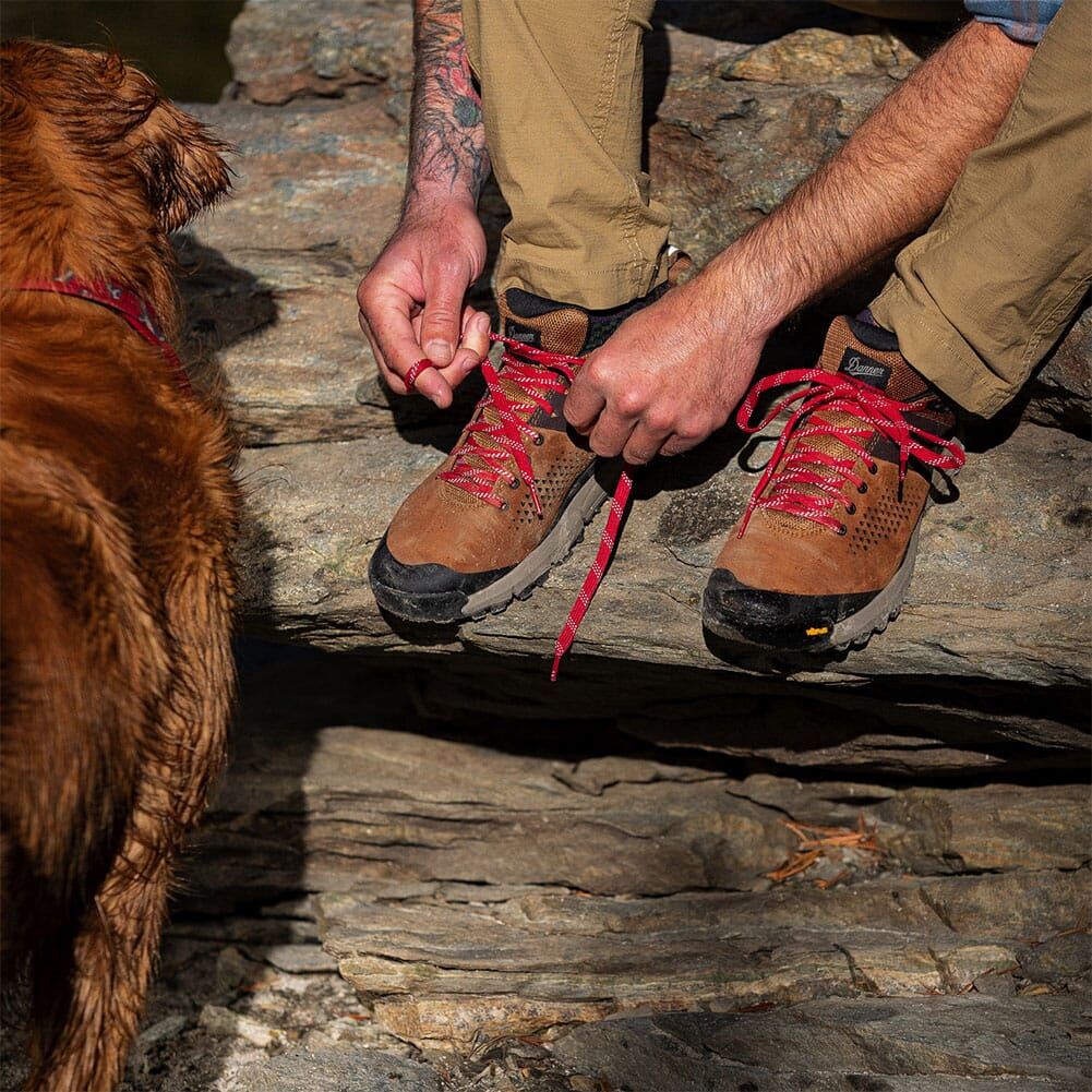 61272 Danner Men's Trail 2650 Hiking Shoes - Brown/Red