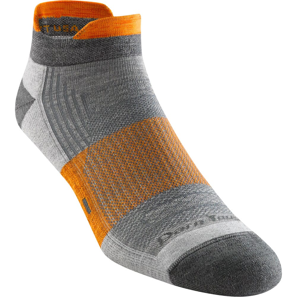 Darn Tough Men's Juice No Show Tab Light Cushion Socks - Grey