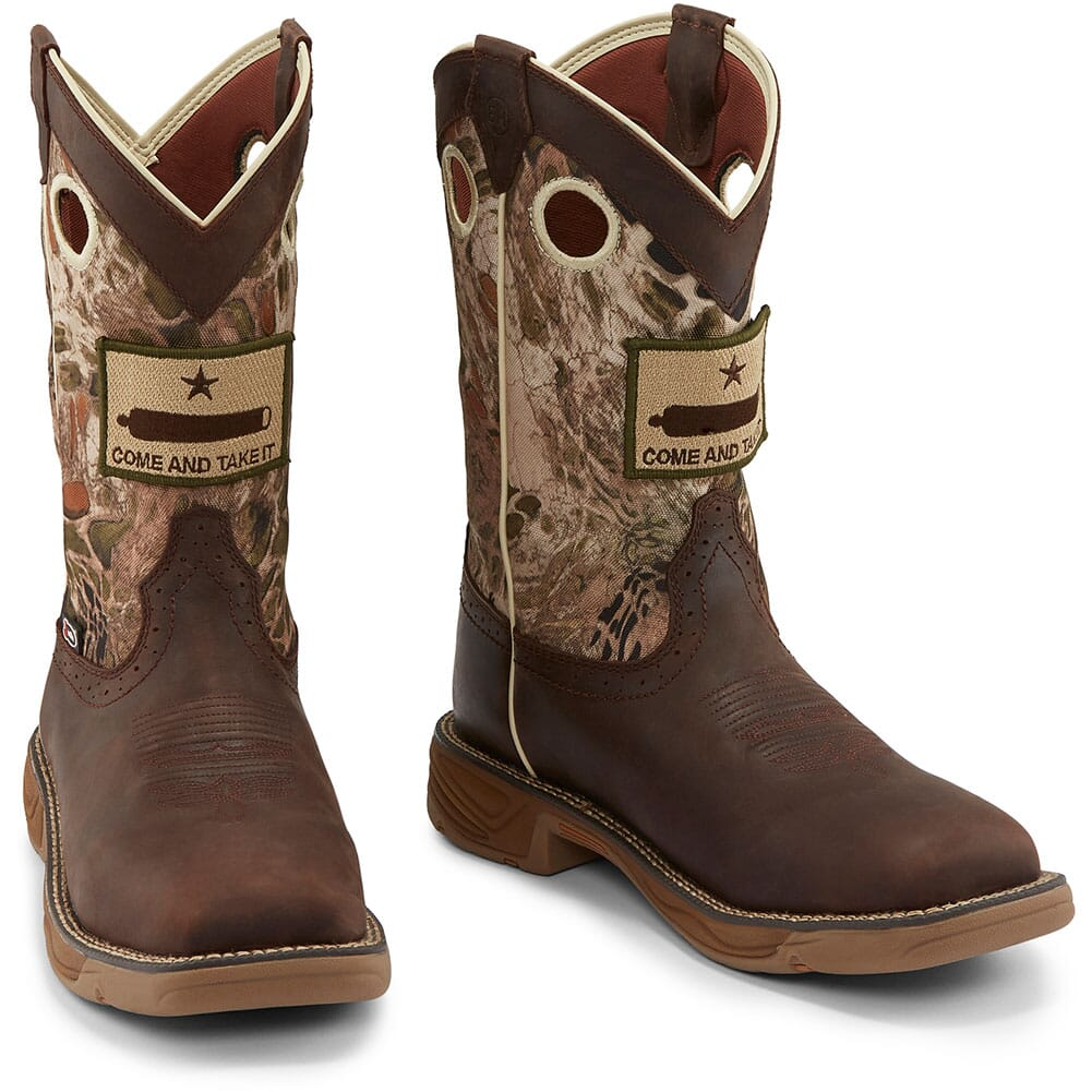 Justin Original Men's Stampede Rush Work Boots - Grizzly Brown