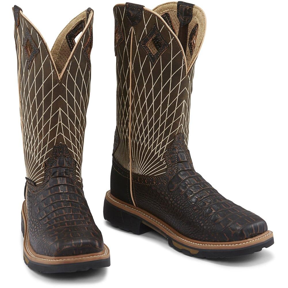 Justin Original Men's Derrickman Safety Boots - Chocolate