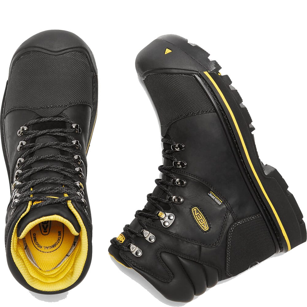 1009173 KEEN Utility Men's Milwaukee WP Safety Boots - Black