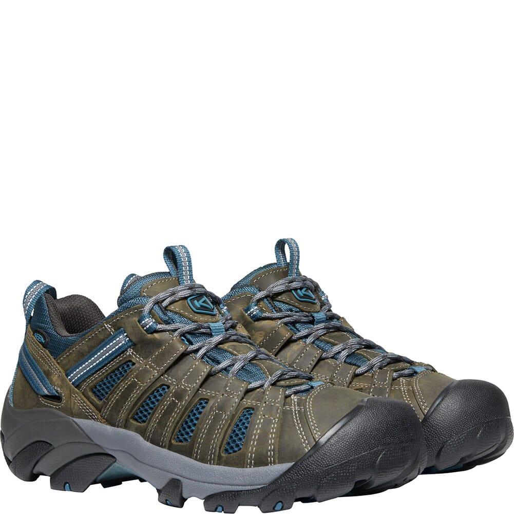 KEEN Men's Voyageur Hiking Shoes - Alcatraz/Legion Blue