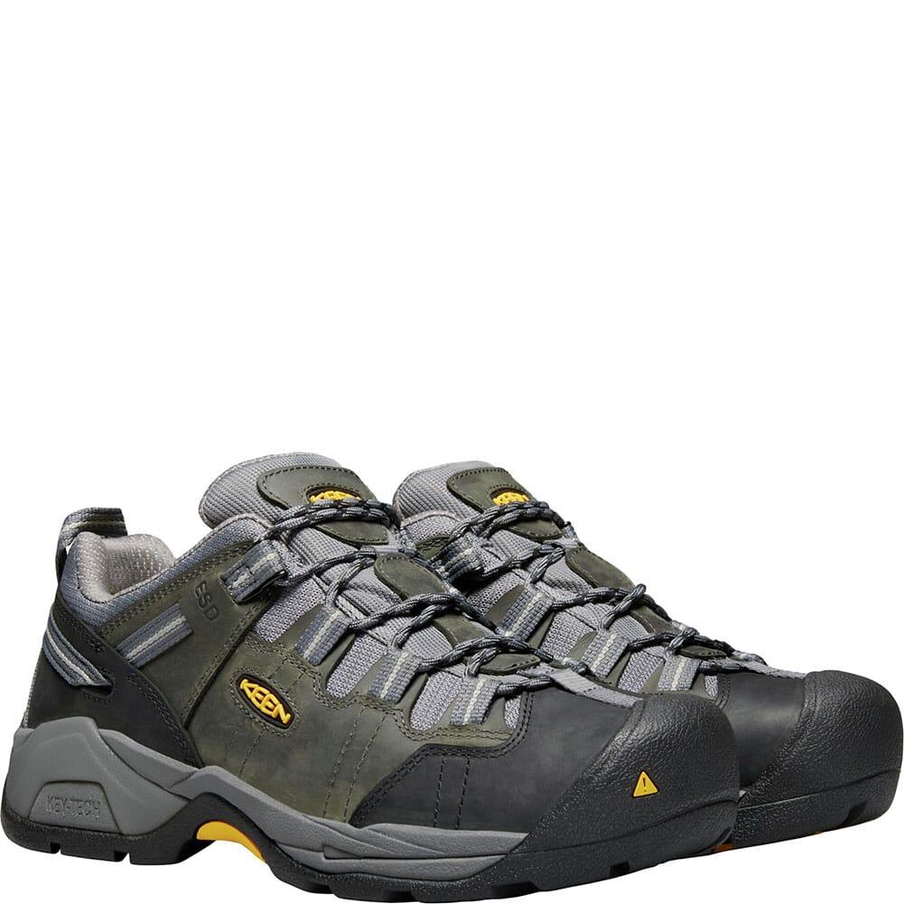KEEN Utility Men's Detroit XT ESD Work Shoes - Magnet/Steel Grey