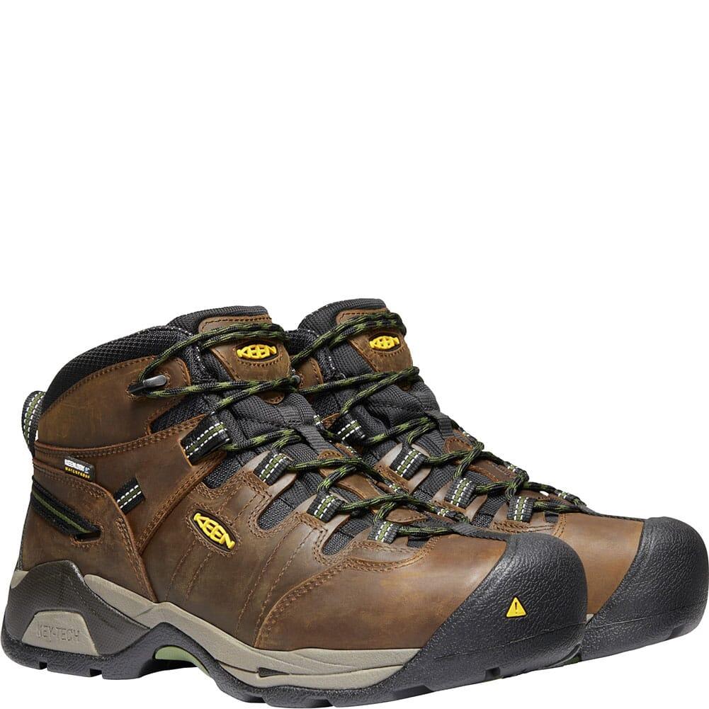 1020085 KEEN Men's Detroit XT WP Safety Boots - Cascade Brown