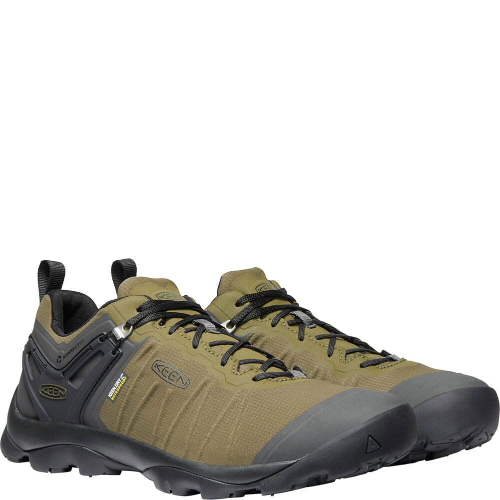 KEEN Men's Venture WP Hiking Shoes - Dark Olive/Raven