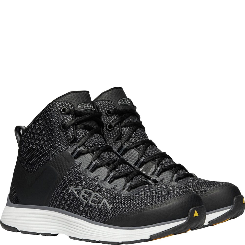 KEEN Utility Men's Carson Mid Safety Boots - Black/Steel Grey