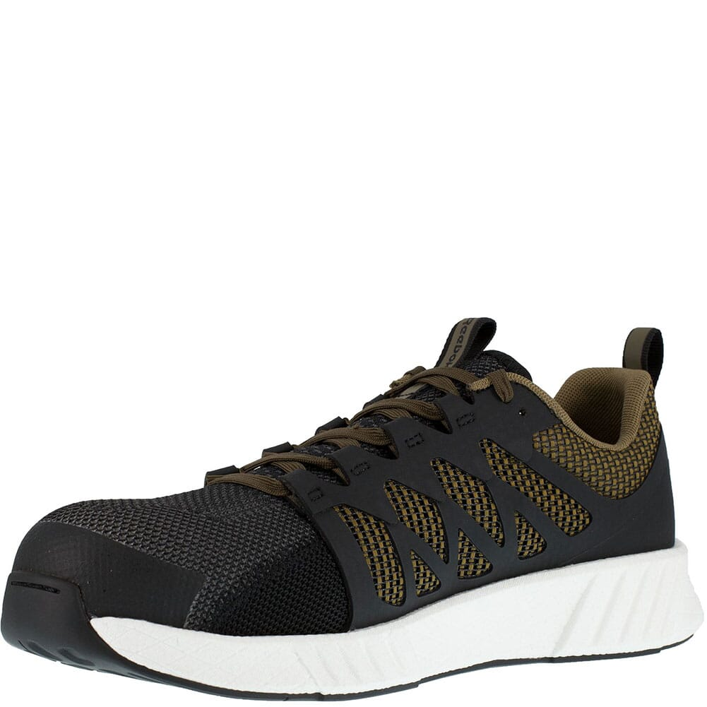 RB4313 Reebok Men's Fusion Flexweave Safety Shoes - Sage/Black