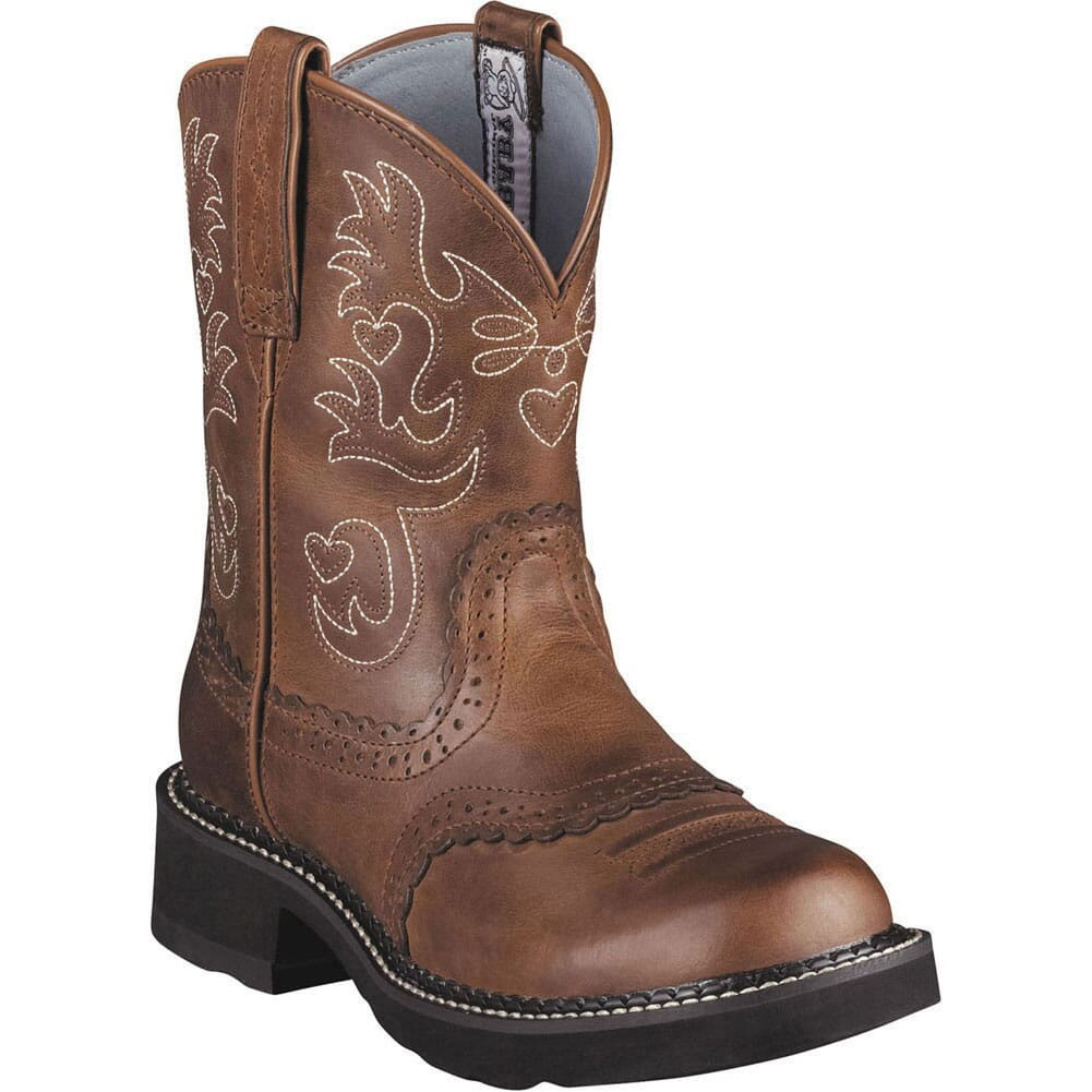 Image for Ariat Women's Fatbaby Saddle Western Boots - Russet Rebel from elliottsboots