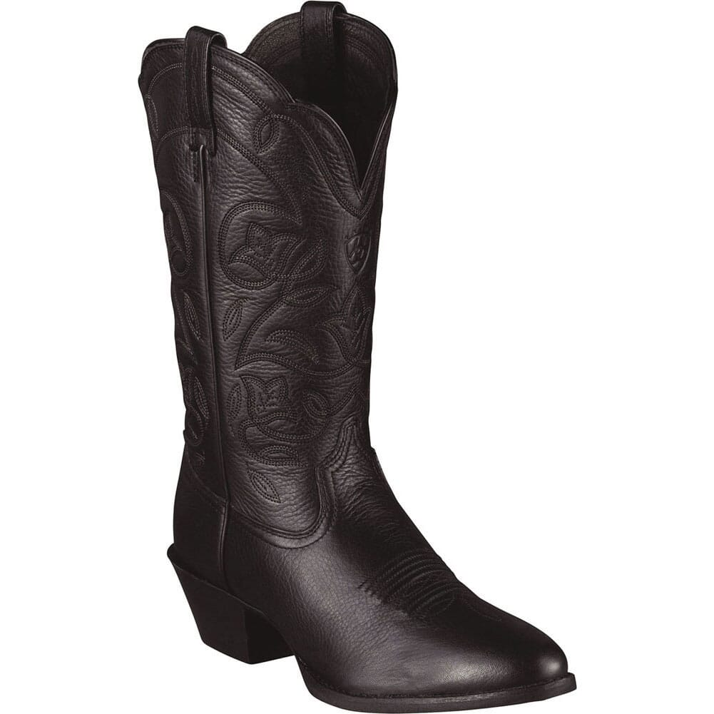 Image for Ariat Women's Heritage Western Boots - Black Deertan from elliottsboots