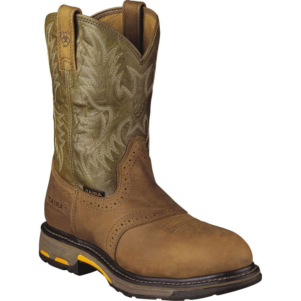 Image for Ariat Men's Workhog Safety Boots - Bark/Green from bootbay