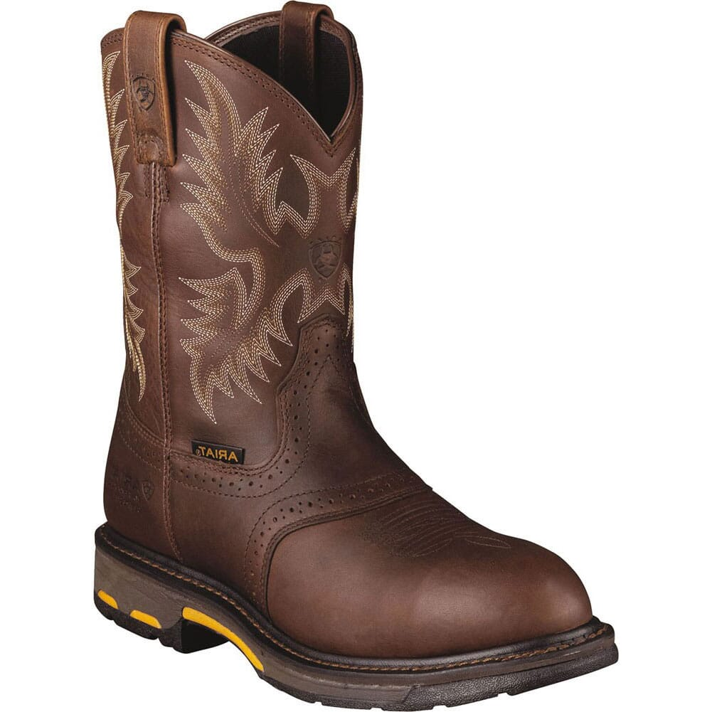 Image for Ariat Men's Workhog H2O Safety Boots - Dark Copper from bootbay