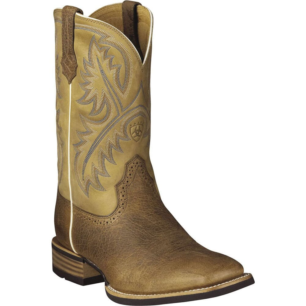 Image for Ariat Men's Quickdraw Western Boots - Bark/Beige from bootbay