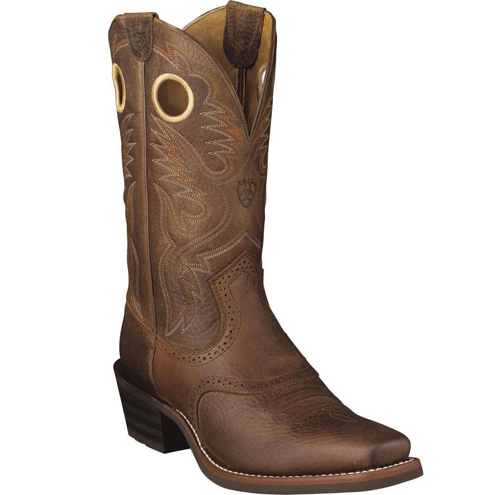 Image for Ariat Men's Heritage Roughstock Square Toe Western Boots - Brown from bootbay