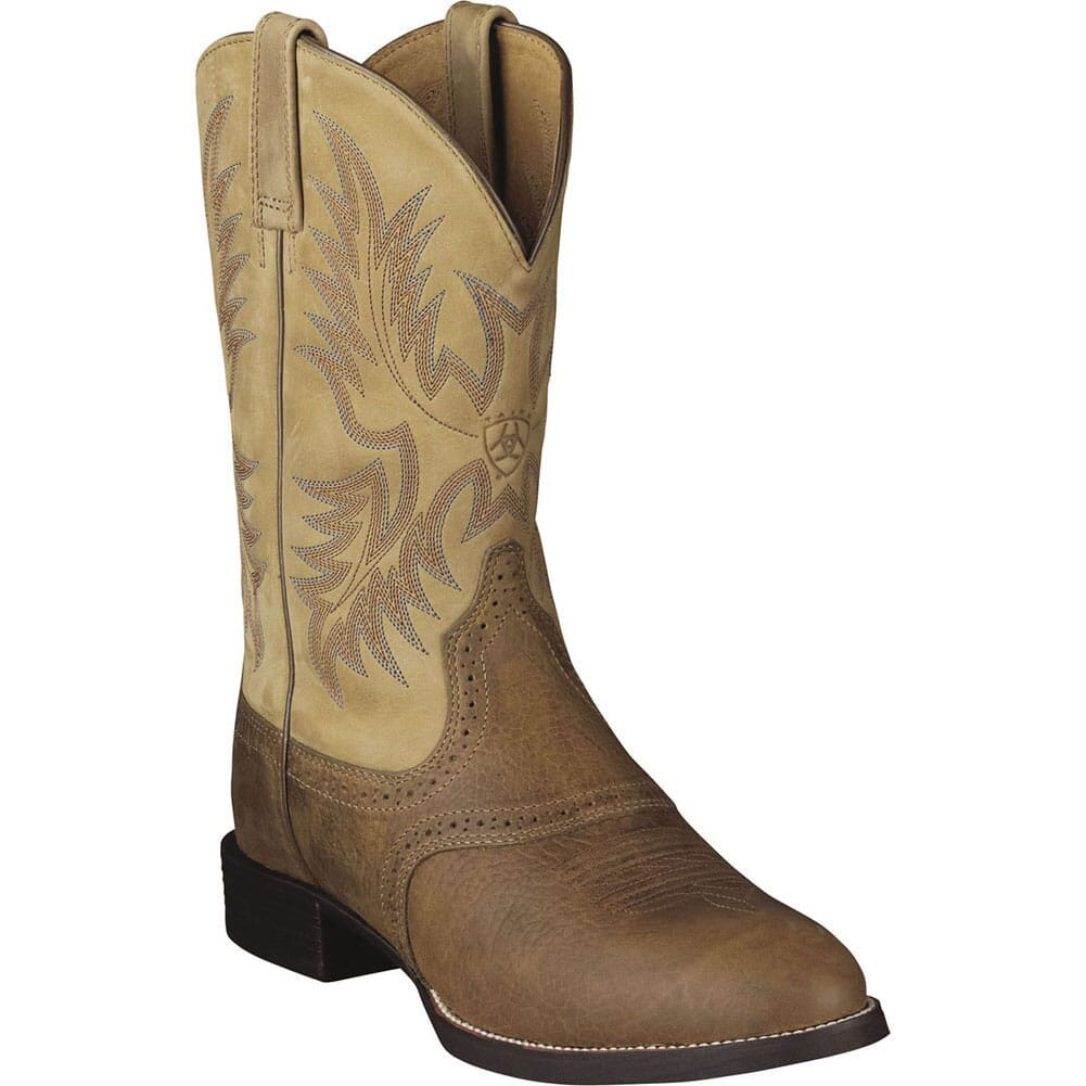 Image for Ariat Men's Heritage Crepe Western Boots - Brown from bootbay