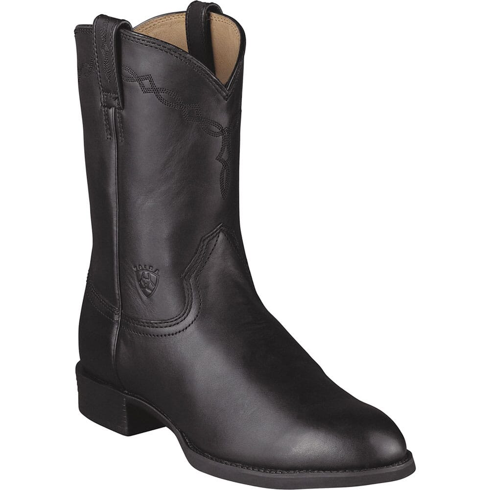 Image for Ariat Men's Heritage Round Toe Western Ropers - Black from bootbay