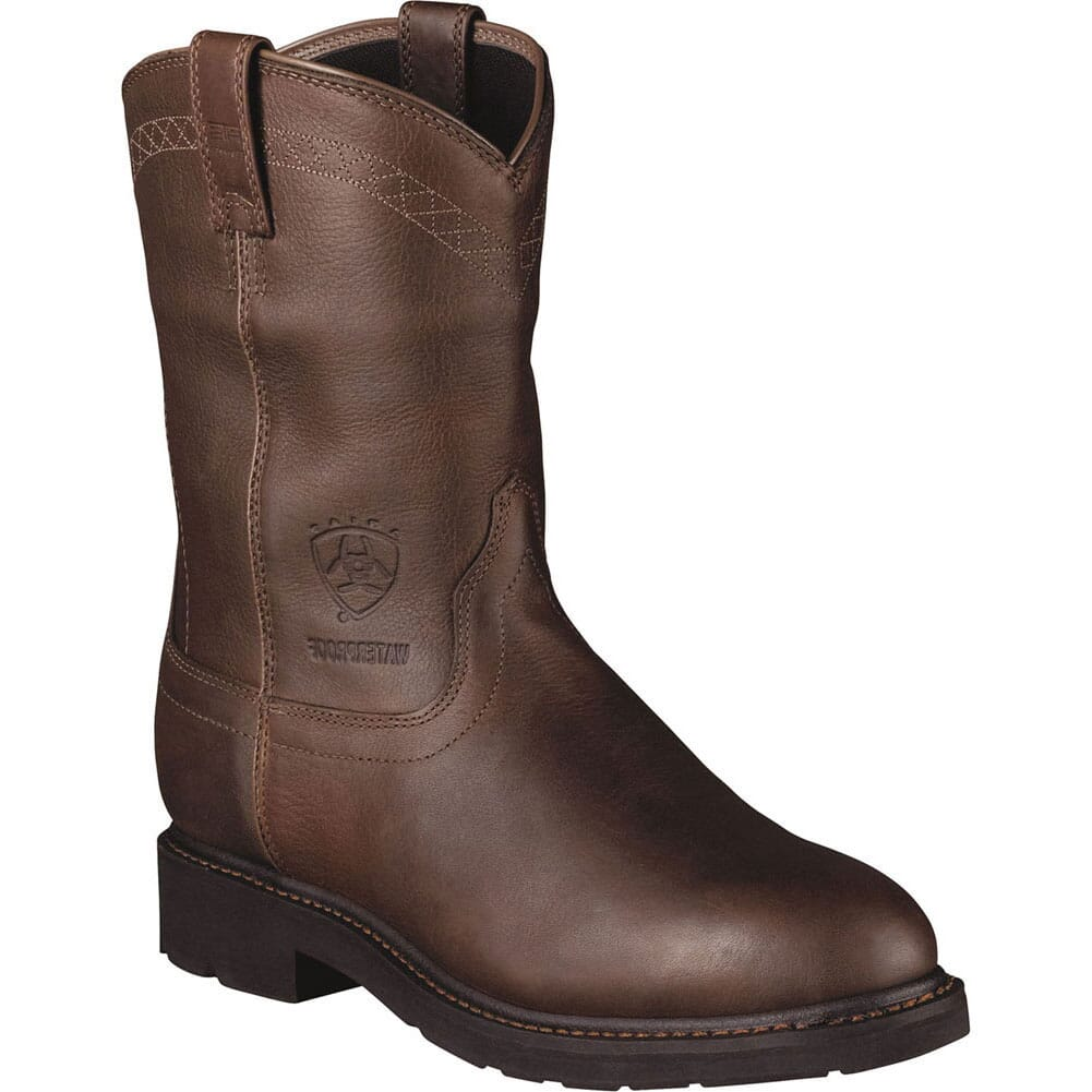 Image for Ariat Men's Sierra H2O Work Boots - Brown from bootbay