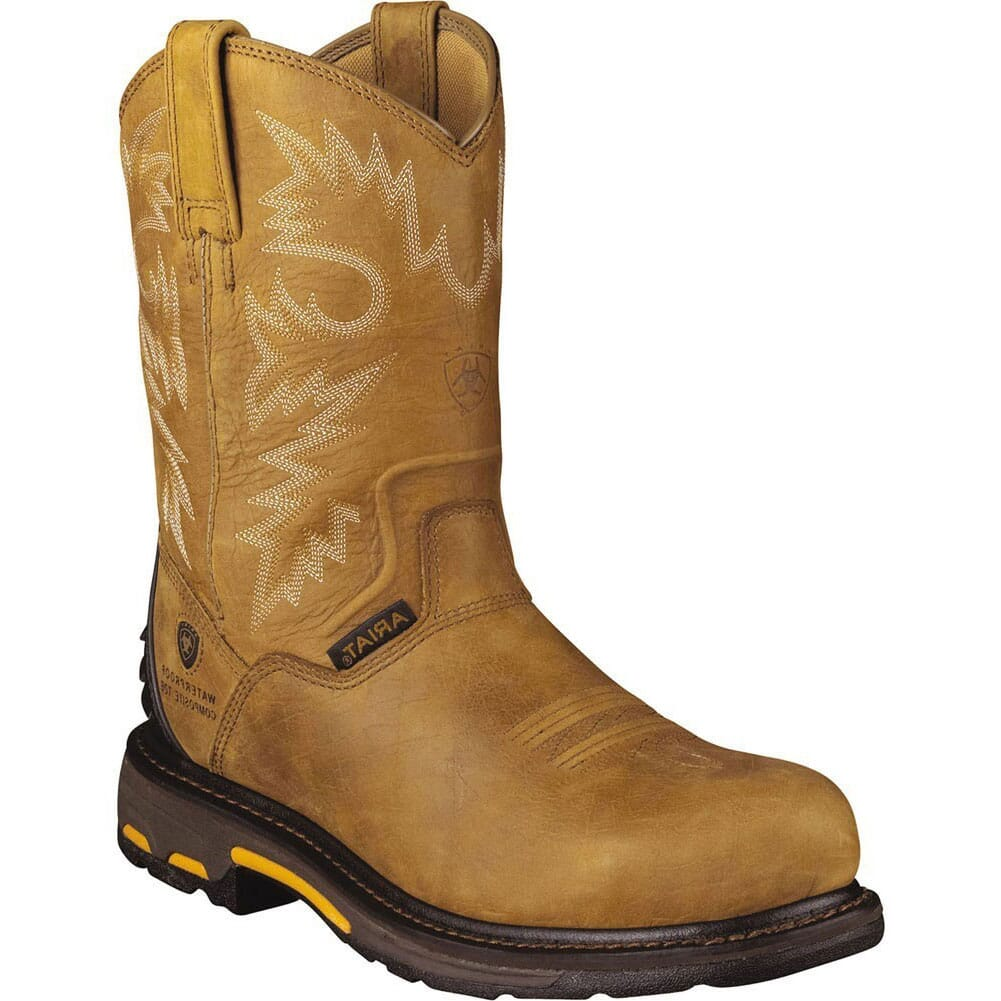 Image for Ariat Men's Workhog H2O Round Toe Safety Boots - Bark from bootbay