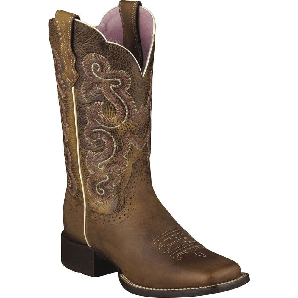 Image for Ariat Women's Quickdraw Western Boots - Brown from elliottsboots