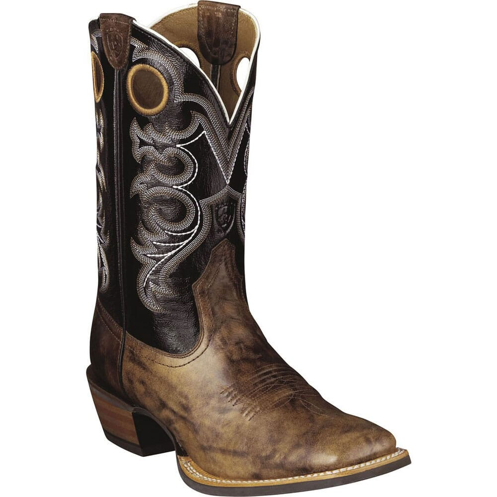 Image for Ariat Men's Crossfire Western Boots - Black/Brown from bootbay
