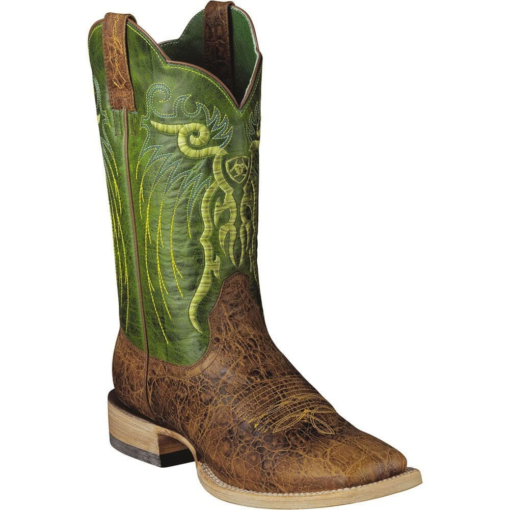 Image for Ariat Men's Mesteno Western Boots - Clay/Lime from bootbay