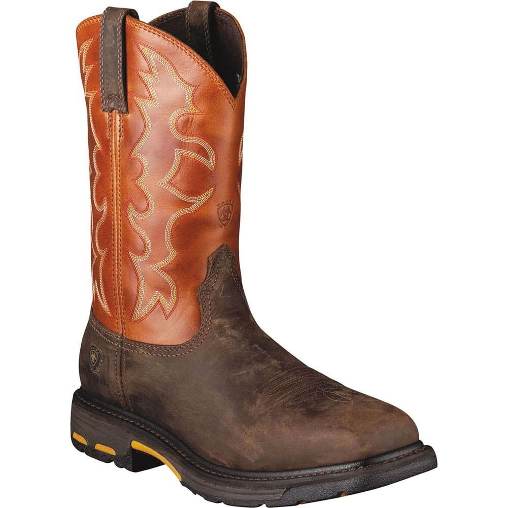 Image for Ariat Men's Workhog Safety Boots - Dark Earth/Brick from bootbay