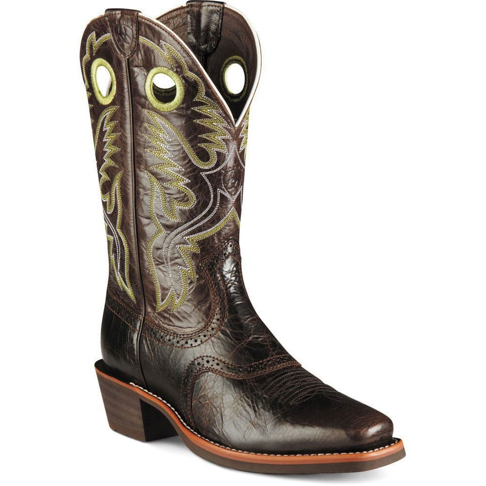 Image for Ariat Men's Heritage Roughstock Western Boots - Thunder Brown from bootbay