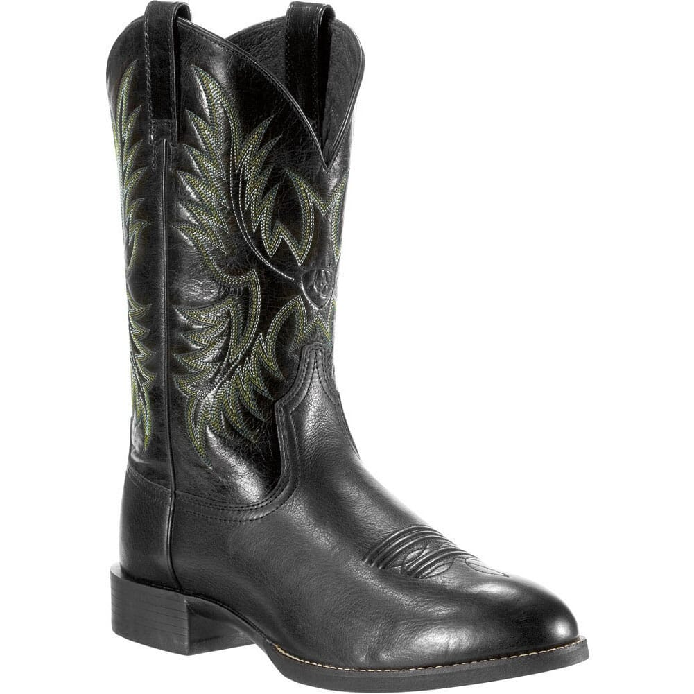 Image for Ariat Men's Heritage Stockman 11IN Western Boots - Black from bootbay