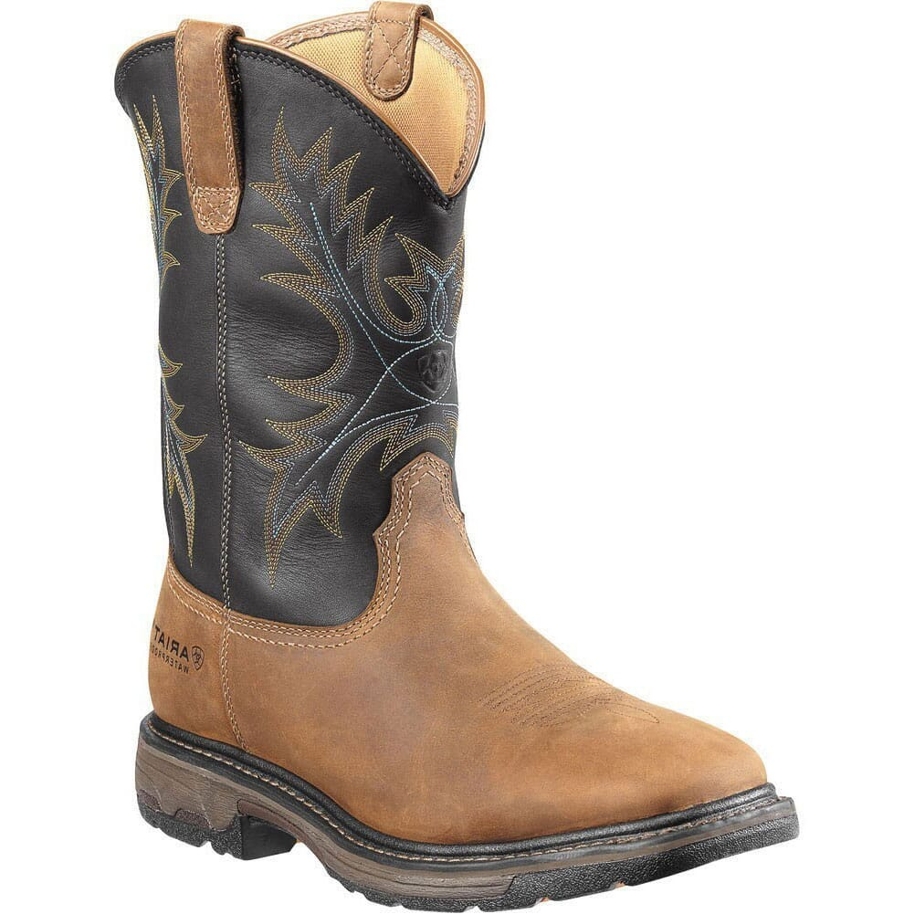 Image for Ariat Men's Workhog H2O Safety Boots - Aged Bark/Black from bootbay