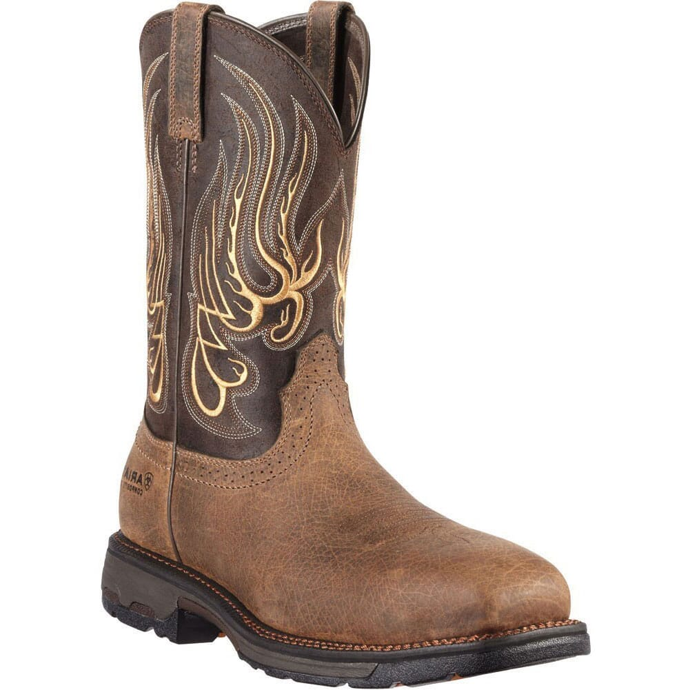 Image for Ariat Men's SR EH Mesteno Safety Boots - Earth/Coffee from bootbay