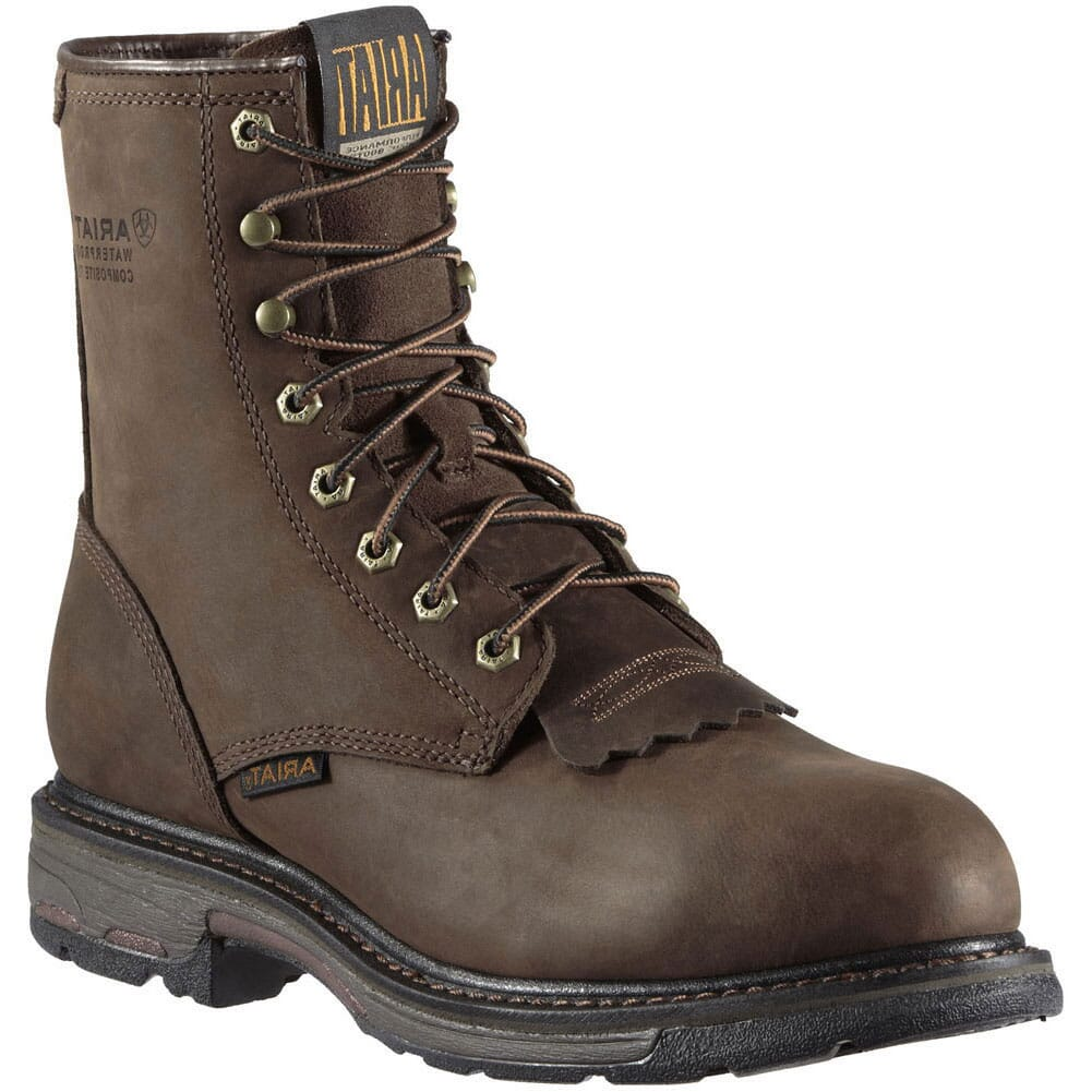 Image for Ariat Men's Workhog WP Safety Boots - Oily Distress Brown from bootbay
