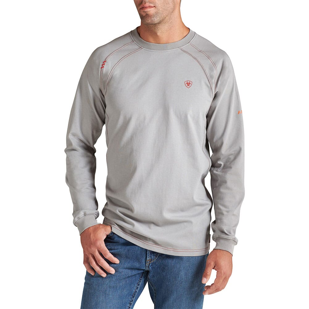 Image for Ariat Men's FR Work Crew T-Shirt - Grey from bootbay