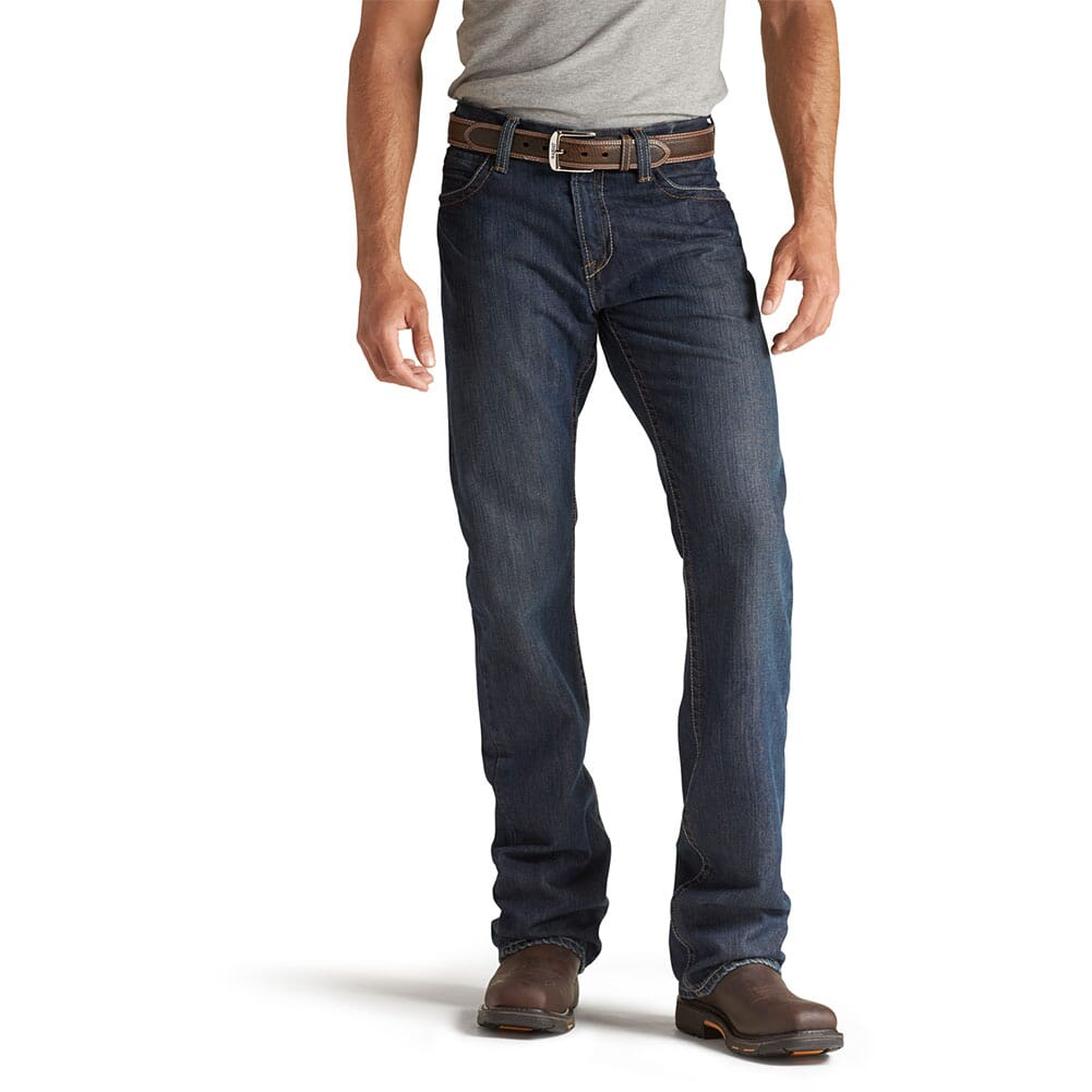 Image for Ariat Men's FR M4 Low Rise Basic Boot Cut Jeans - Shale from bootbay