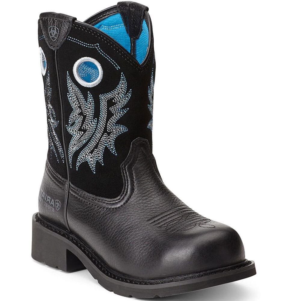 Image for Ariat Women's Fatbaby Cowgirl Safety Boots - Black from bootbay