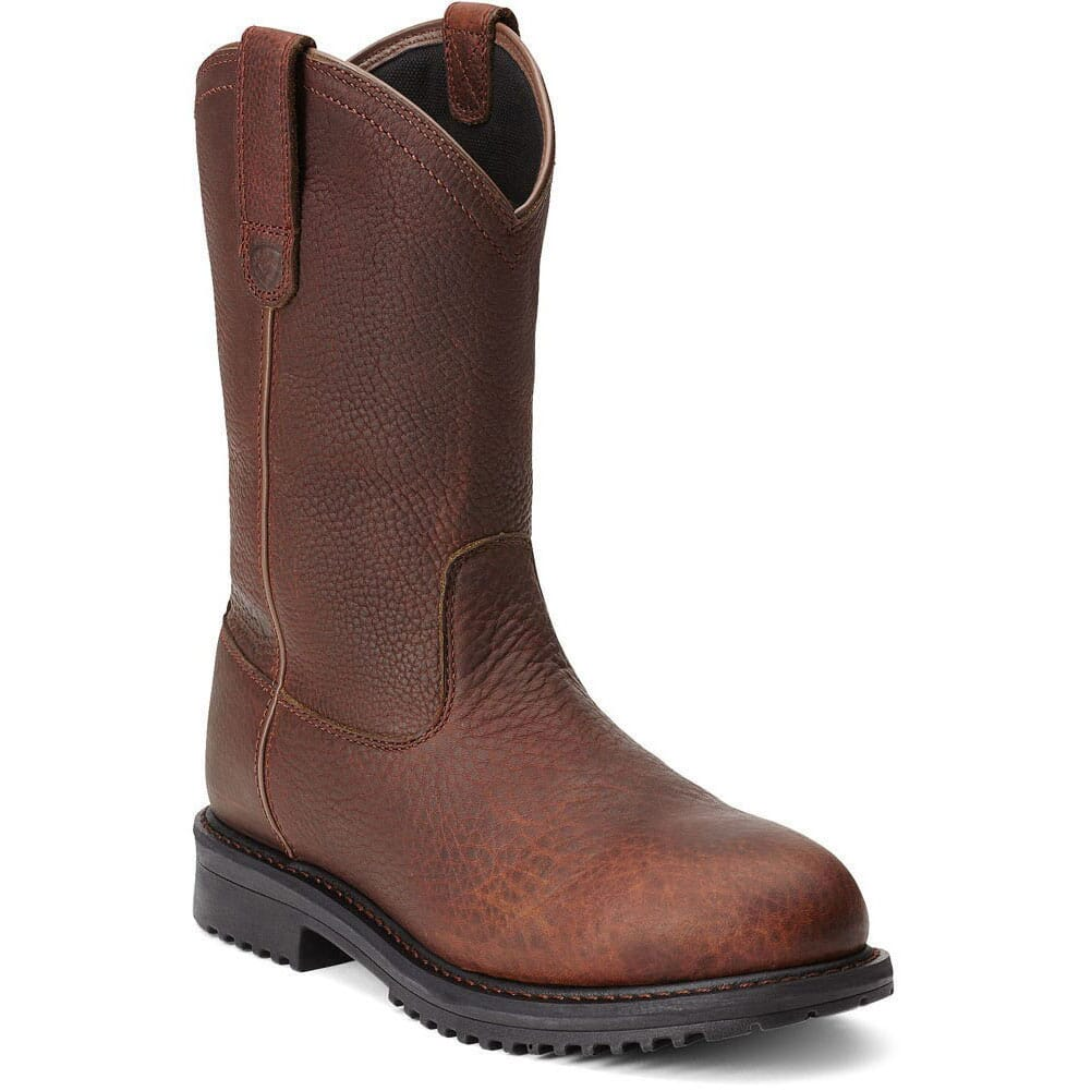 Image for Ariat Men's Rigtek Pullon Safety Boots - Brown from bootbay
