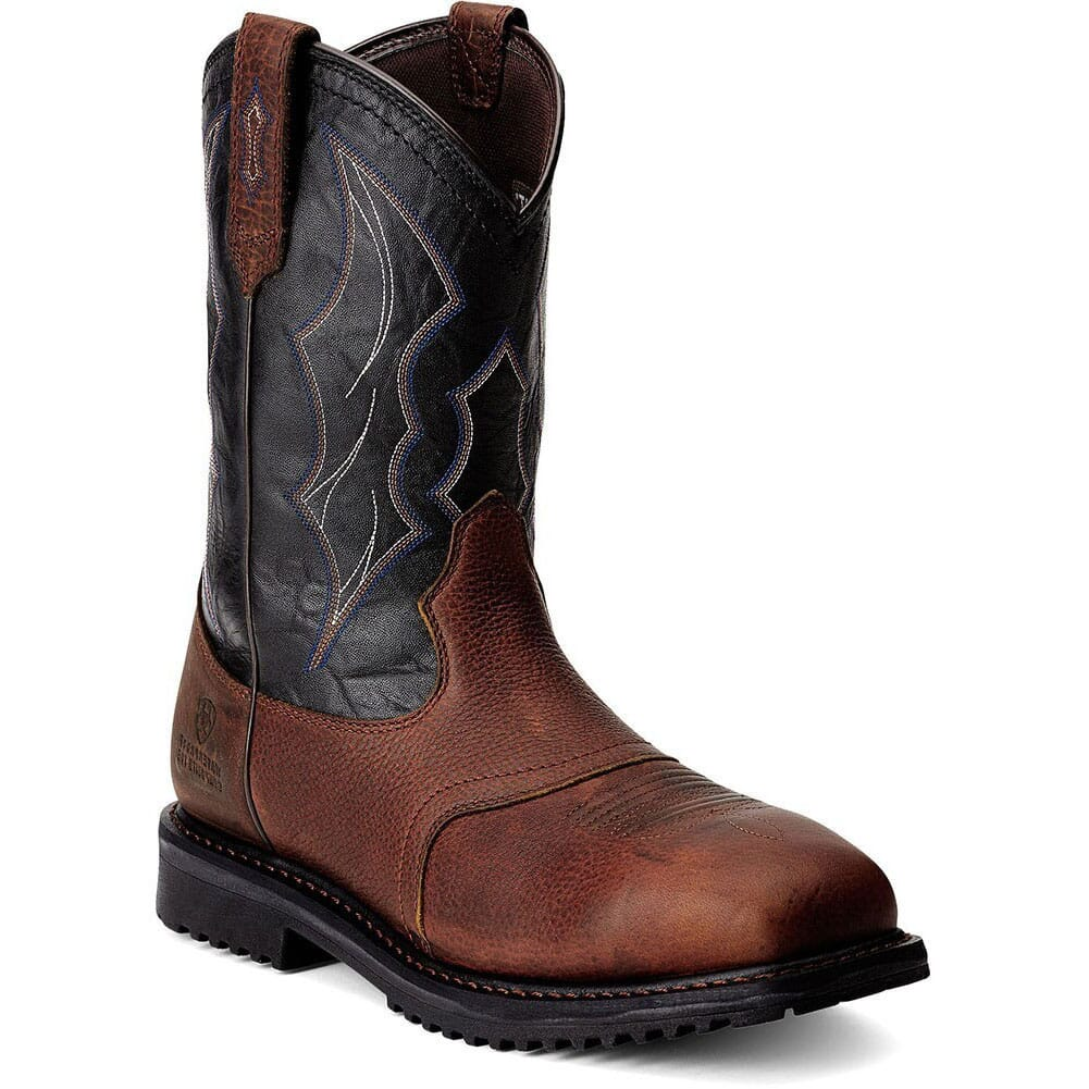 Image for Ariat Men's Rigtek H2O CT Safety Boots - Oiled Brown from bootbay