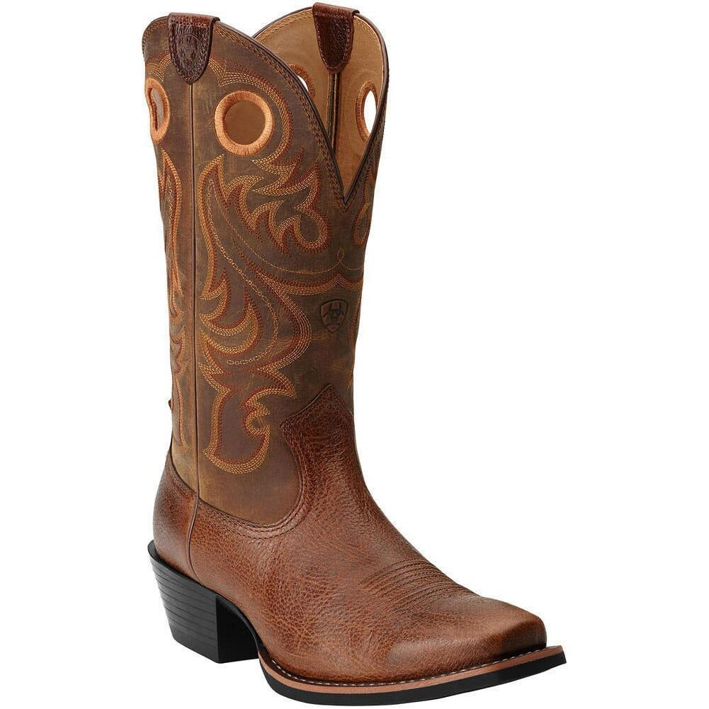 Image for Ariat Men's Sport SQ Toe Western Boots - Fiddle Brown from bootbay