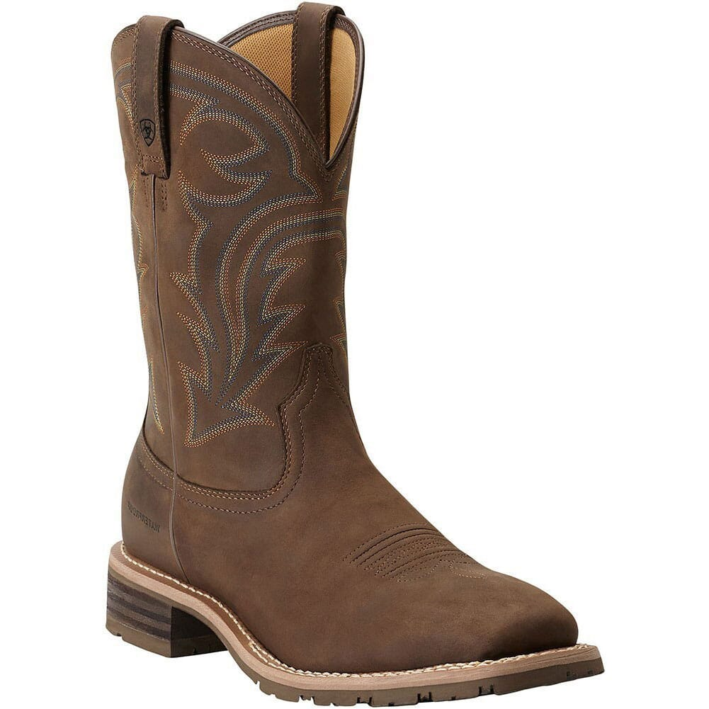 Image for Ariat Men's Hybrid Rancher H20 Work Boots - Oily Brown from bootbay