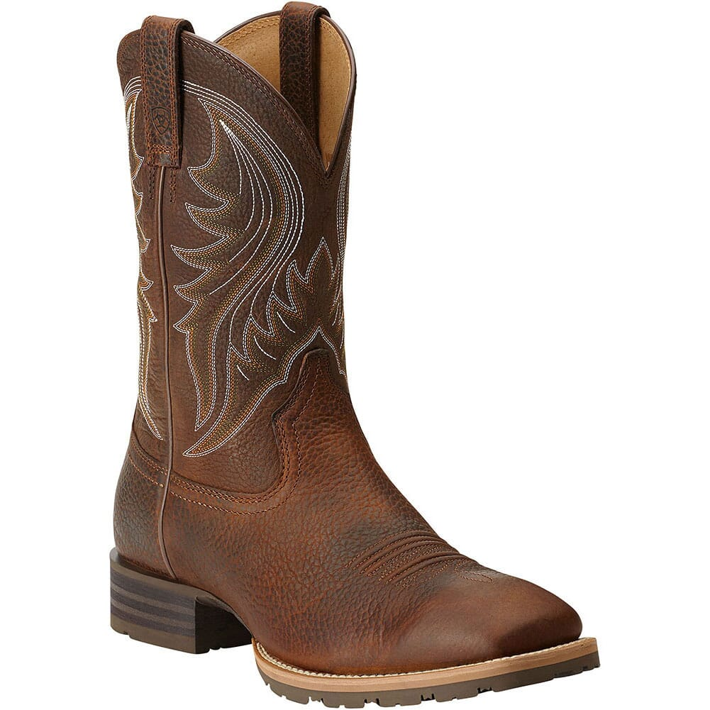 Image for Ariat Men's Hybrid Rancher Western Boots - Brown Oiled Rowdy from bootbay