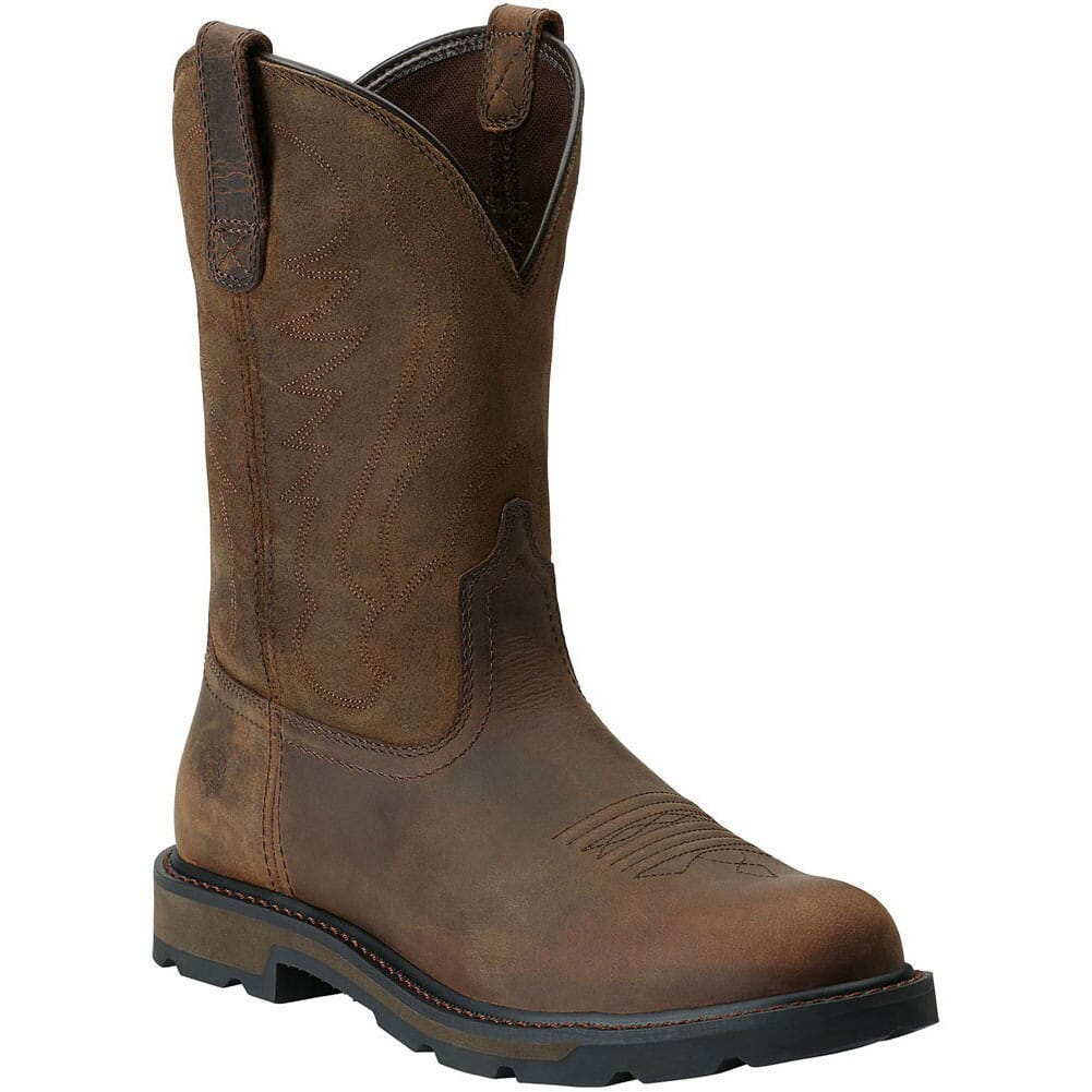 Image for Ariat Men's Groundbreaker Round Toe Work Boots - Brown from bootbay