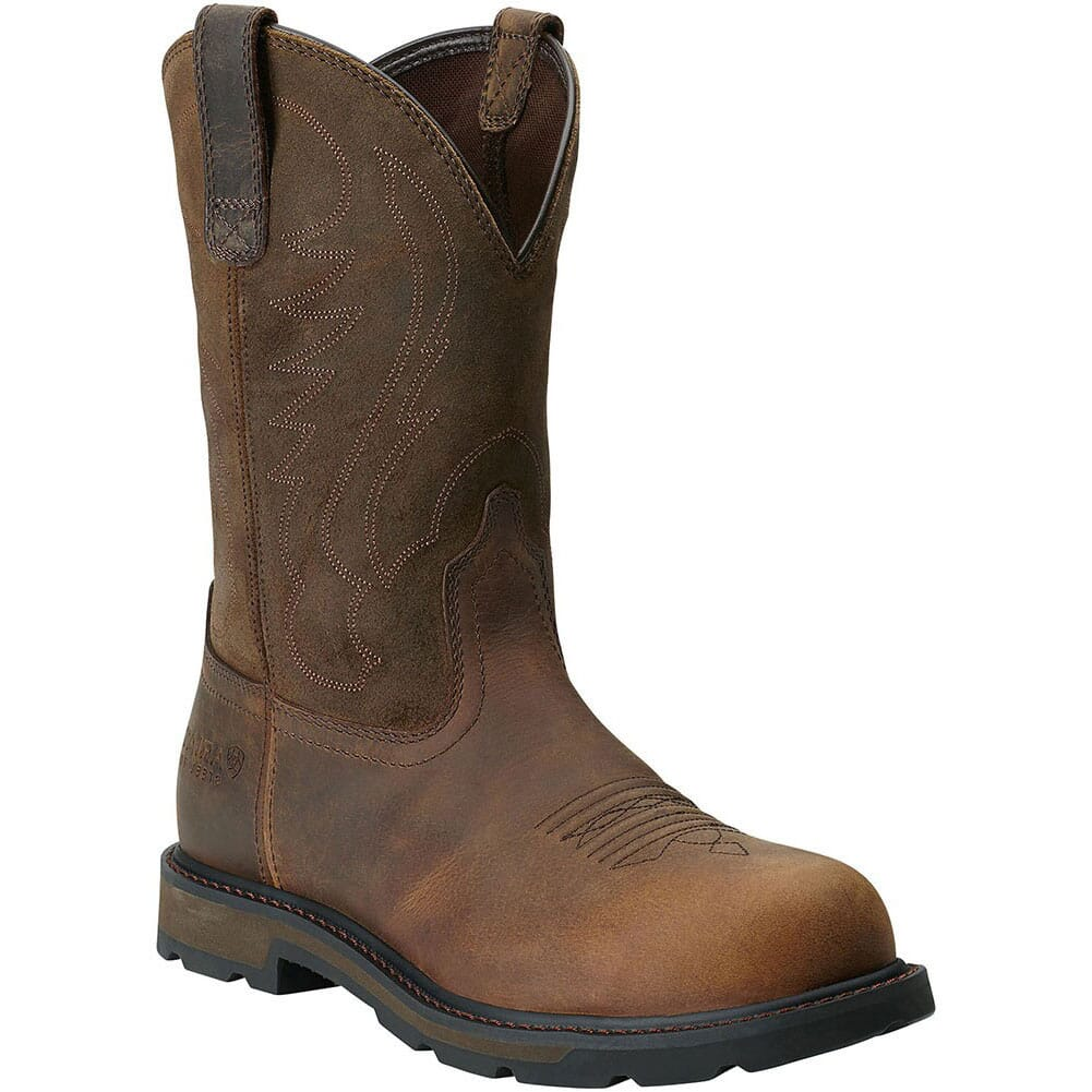 Image for Ariat Men's Groundbreaker Pull-On Safety Boots - Brown from bootbay