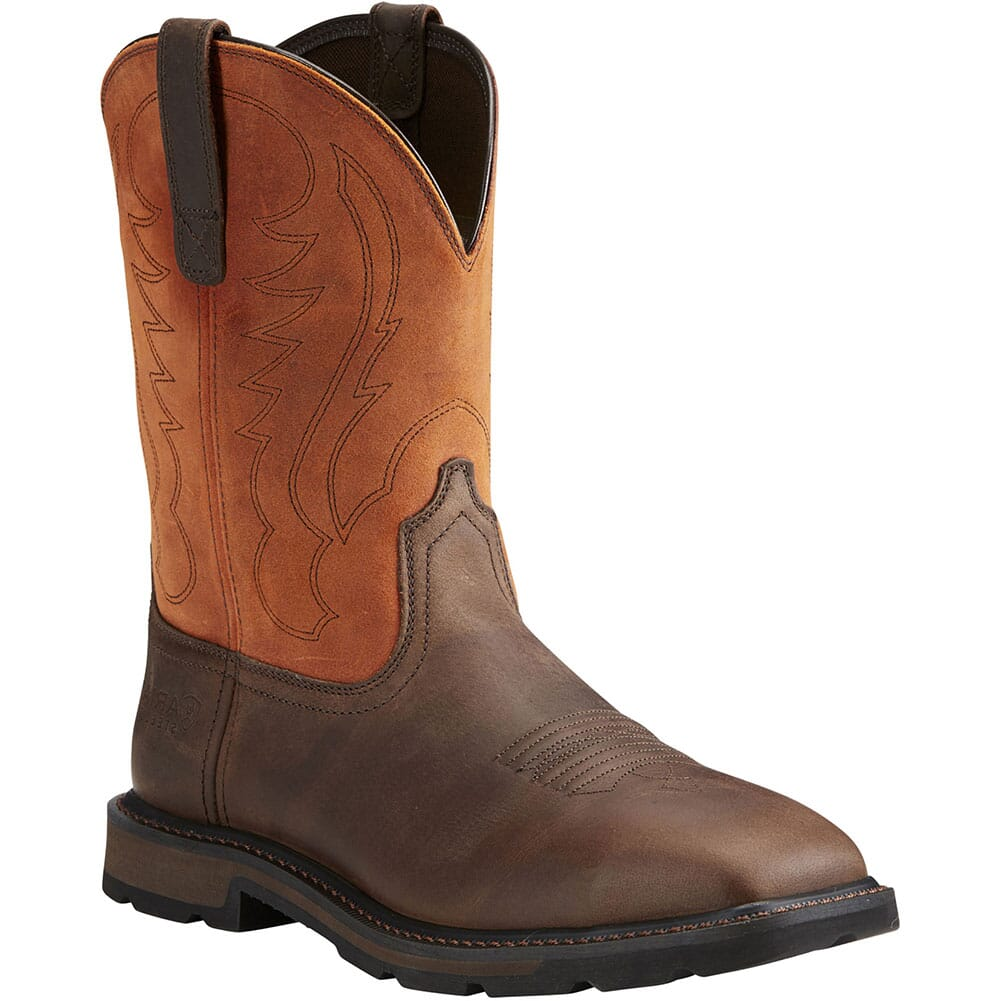 Image for Ariat Men's Groundbreaker Safety Boots - Brown/Ember from bootbay