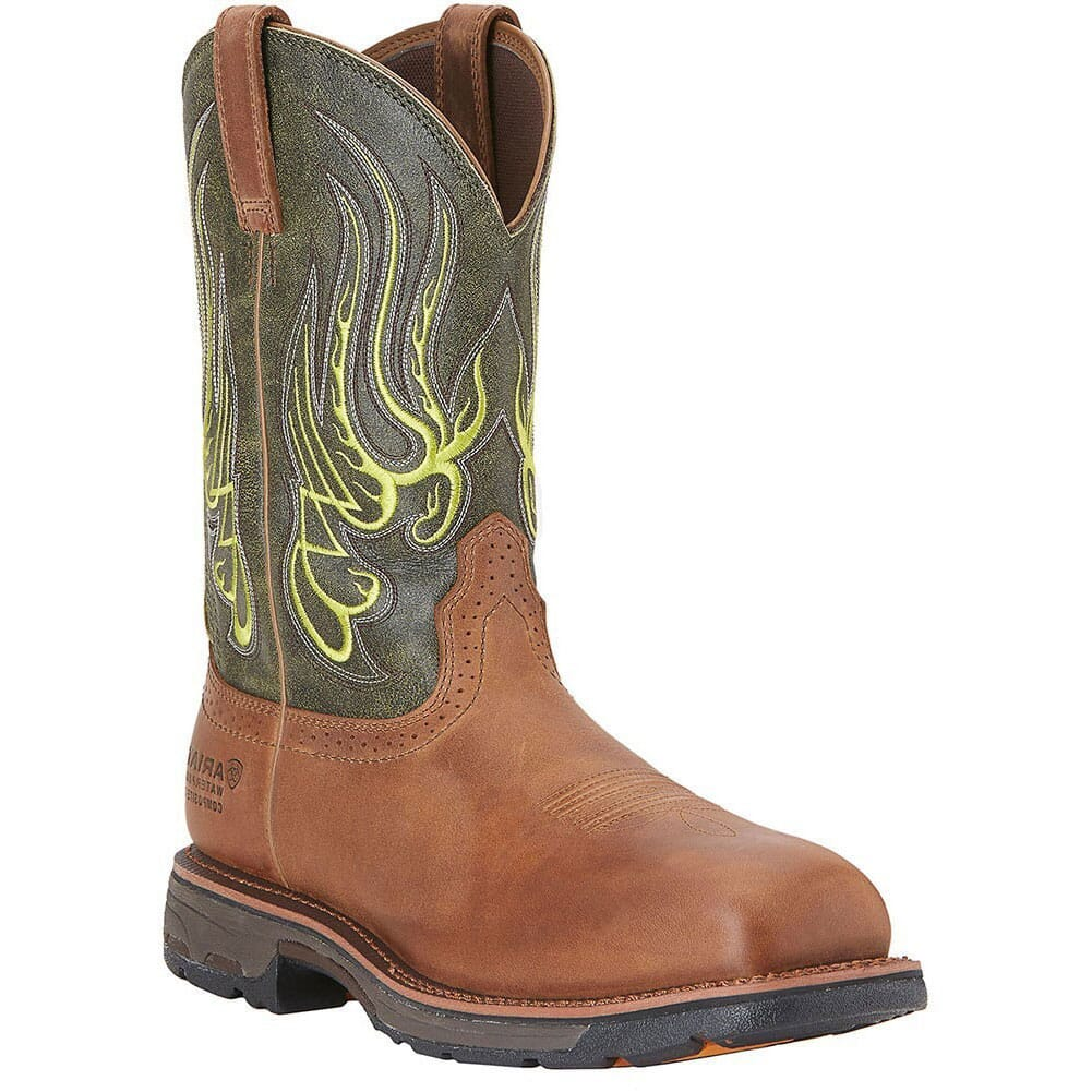 Image for Ariat Men's Mesteno Workhog H2O Safety Boots - Rust/Moss from bootbay