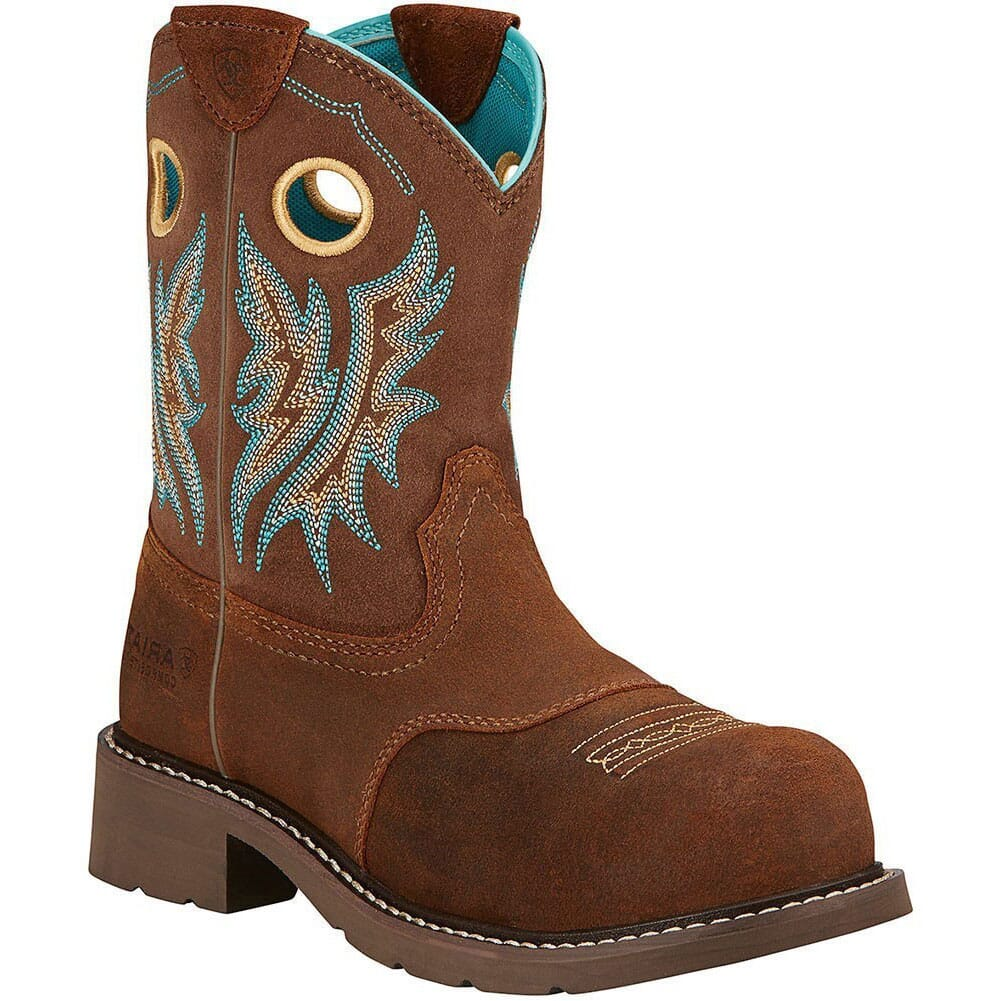 Image for Ariat Women's Fatbaby Cowgirl Safety Boots - Fireside Tan from bootbay