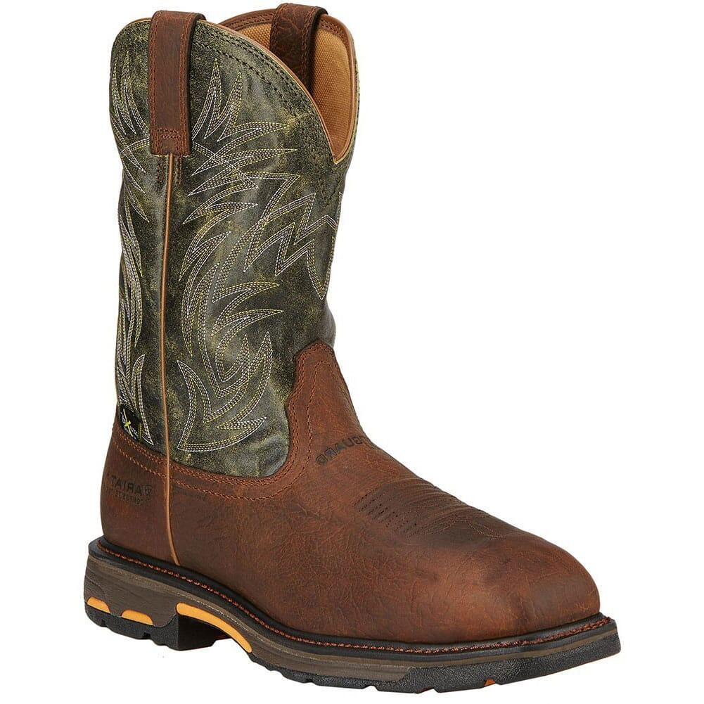 Image for Ariat Men's Workhog Metguard Safety Boots - Moss Green from bootbay