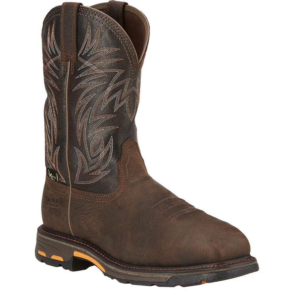 Image for Ariat Men's Workhog Met Guard Safety Boots - Brown from bootbay