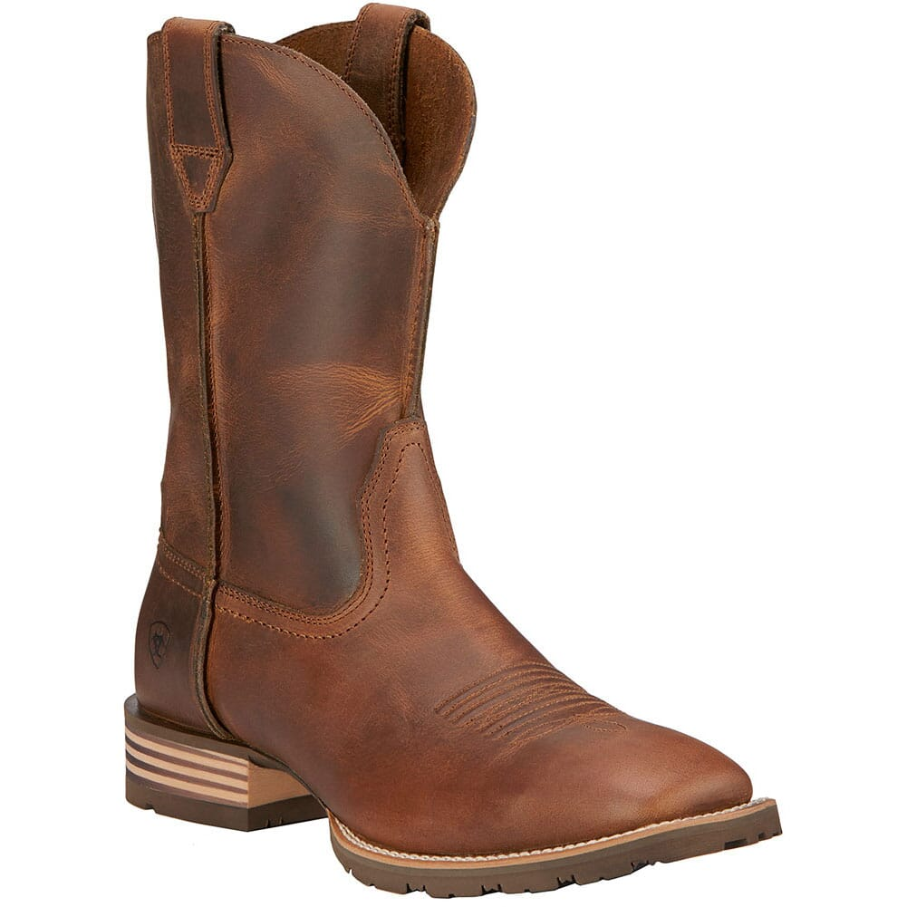 Image for Ariat Men's Hybrid Street Side Western Boots - Powder Brown from bootbay