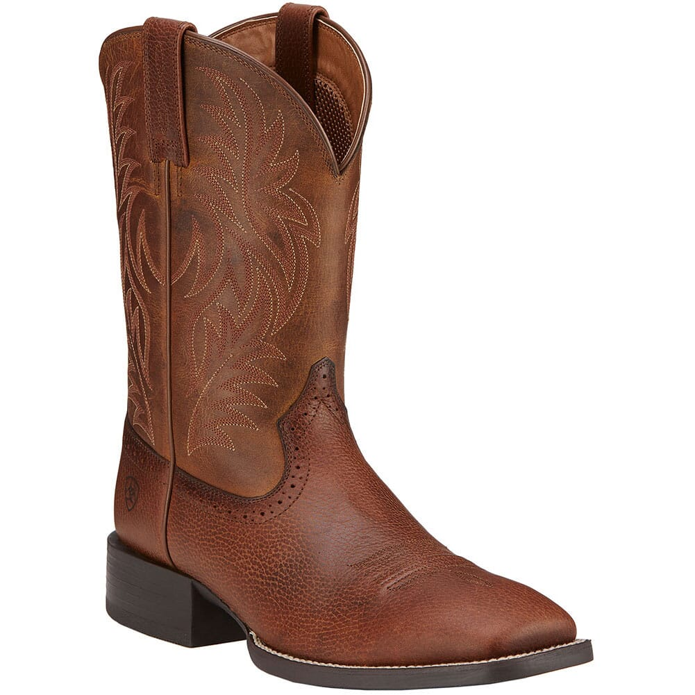 Image for Ariat Men's Sport Western Boots - Fiddle Brown from bootbay